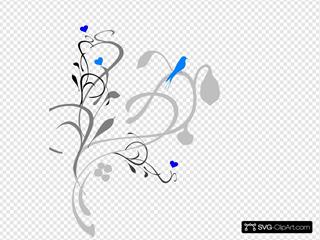 Blue Bird On Grey Vine
