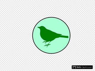 Emerald Circle Bird