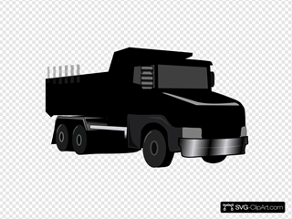 Black Gray Dump Truck 2