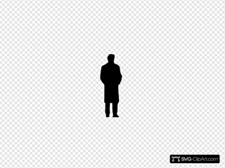 Black Silhouette Of A Man Clipart