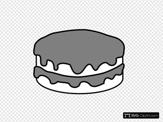 Plain Black And White Cake