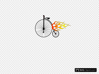 Old Bike Flames