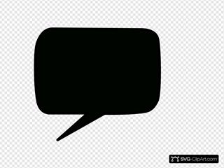 Black Speech Bubble