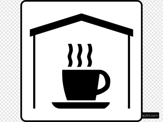 Hotel Icon Has Coffee In Room Clipart