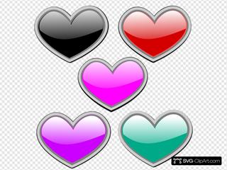 Glossy Hearts 1