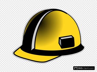 Yellow And Black Hardhat
