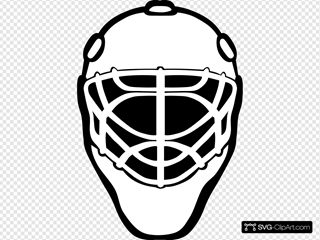 Goalie Mask Simple Outline Clipart