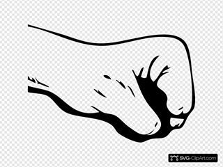 Fist Outline Lineart