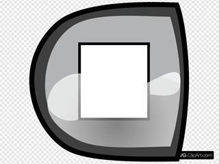 Black Stop Button