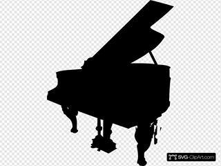 Black Piano Silhouette