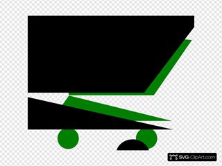 Shopping Cart Black Green
