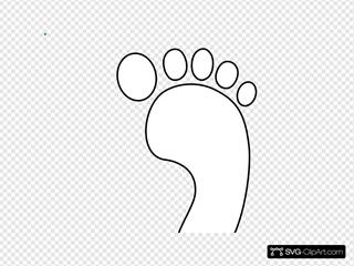 Right Footprint Bw