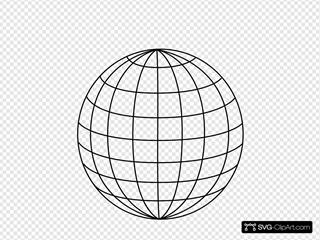 Black 5pt Wire Globe