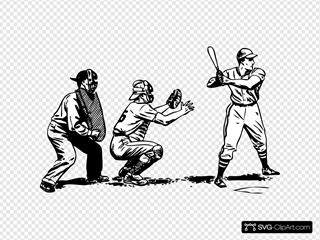 Batter Catcher And Umpire