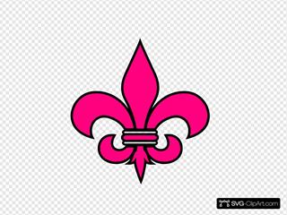 Pink Fleur De Lis Court