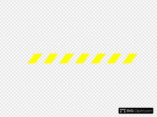 Black And Yellow Warning Stripe