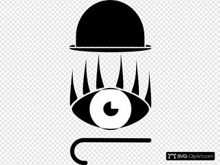 Hat Eye Stick Silhouette