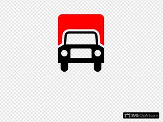 Truck Red Black