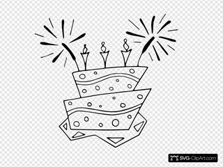 Flat Cake Bw