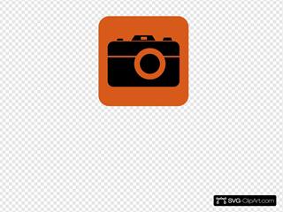 Orange Camera Black