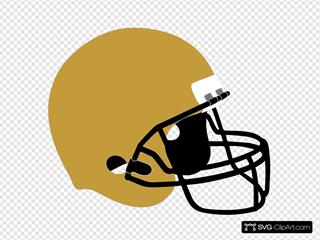 Football Helmet Gold Black