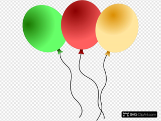 Balloons SVG Cliparts
