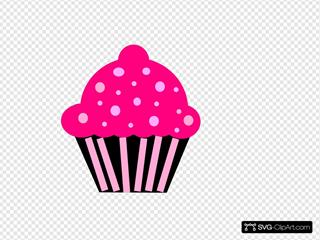 Cupcake Pink Black