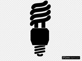 Black Silhouette Lightbulb