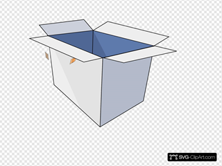 3d Empty Open Box