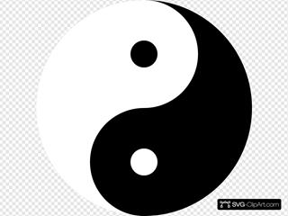 Ying Yang 11 SVG Clipart