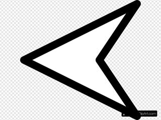 Plain Left White Arrow