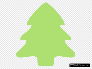 Christmas Tree Icon 2 SVG Clipart