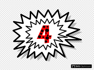Explosion 4 Red With Black Dots