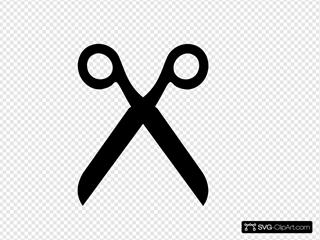 Black Scissors Clipart