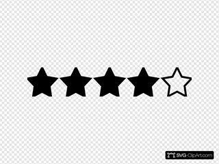 Four Star Rating Black