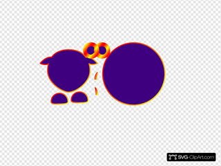 Sheep Body Parts Black Outline Purple Body Linear2
