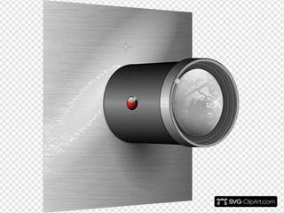 Camera Lens On Wall