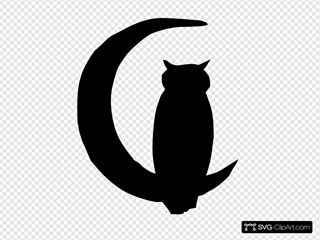 Owl Moon Clip art, Icon and SVG - SVG Clipart