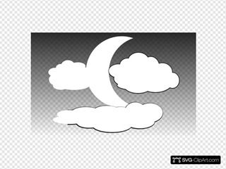 Clouds And The Moon 1