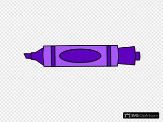 Dark Purple Marker, Uncapped SVG Clipart