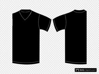 V Neck Black Tshirt