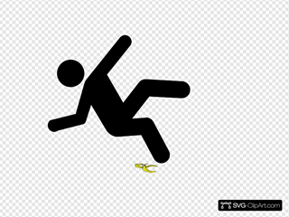 Slip Man Black Banana SVG Clipart