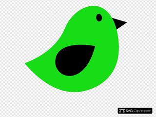Black & Lime Birdie