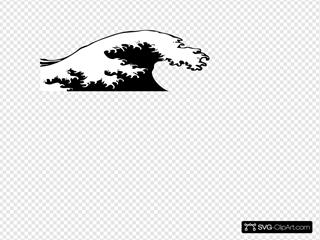 Wave Crashing Black And White