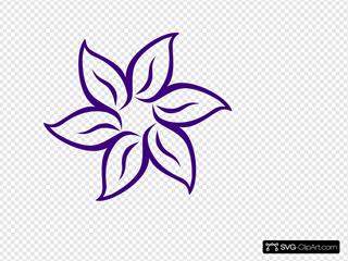 Purple Flower Outline