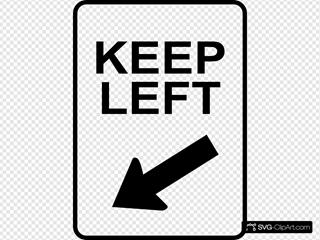 Leomarc Sign Keep Left