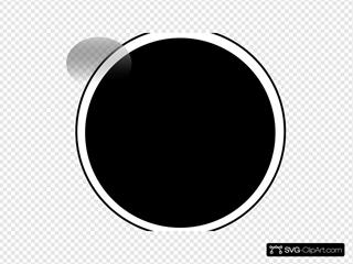 Glossy Black Circle Button