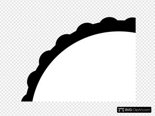 Teal Scallop Circle Frame