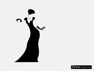 Lady Black Silhouette