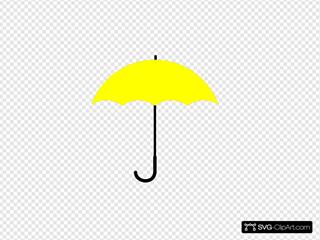 Yellow Umbrella Black Handle